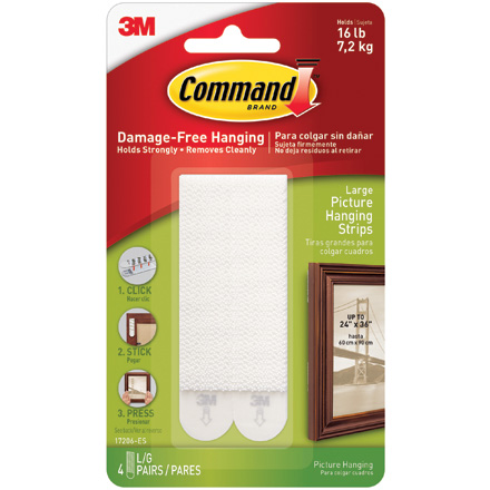 3M 17206 Command<span class='tm'>™</span> Picture Hanging Strips - Large